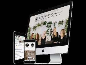 eye doctor custom website marketing