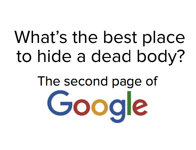 Google joke